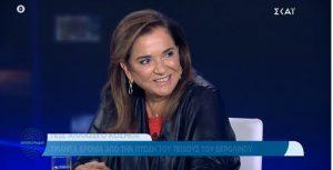 Η Ντόρα Μπακογιάννη στην εκπομπή «Αποτύπωμα» με τον Παύλο Τσίμα