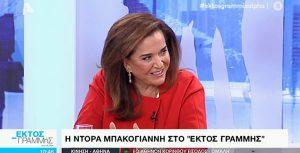 Η Ντόρα Μπακογιάννη στην εκπομπή «Εκτός Γραμμής»